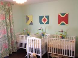 Nursery Furniture For Small Spaces - the nursery is done view 2 triplet cribs layout for small spaces