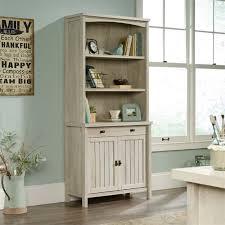 Sauder 3 Shelf Bookcase Cherry Sauder Costa 3 Shelf Bookcase In Chalked Chestnut 419960 61 Kit