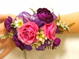 corsage flowers pink and mixed flower corsage wrist corsage in edgerton wi