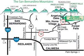 San Bernardino County Map Forest Falls Real Estate Angelus Oaks Real Estate Mountain Home