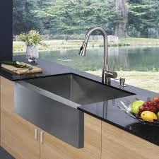 Out Door Kitchen Sink With Oak Wooden Cabinets And Black - Kitchen sink paint