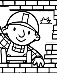 bob builder building wall coloring wecoloringpage