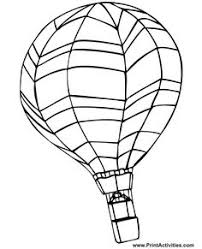 balloon coloring pages air balloon coloring pages free printables balloon crafts