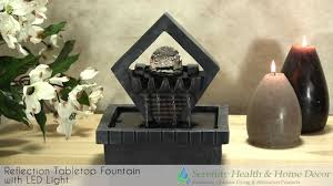 Home Decor Fountain Home Decor Reflection Tabletop Fountain With Led Light Youtube