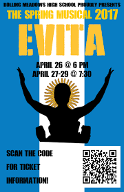 rolling meadows students kick off spring musical evita on april 26