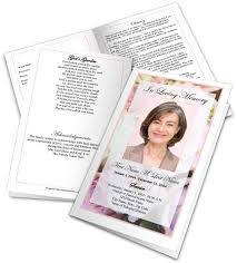 funeral program template funeral program template funeral programs obituary template