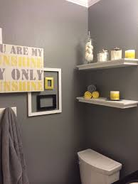 Yellow And Grey Bathroom Decorating Ideas Gray And Yellow Bathroom Sustainablepals Org