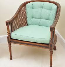 Ebth Vintage Classic Cane Back Barrel Chair Ebth Home Chair Decoration