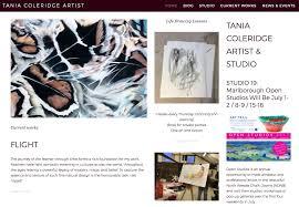 Tania Coleridge Artist Web Design  biteintonet