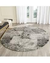 Grey Round Rug Amazing Deal On Safavieh Retro Collection Ret2141 1180 Modern