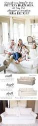 Pottery Barn Slipcovered Sofa by Ikea Ektorp Sofa Versus Pottery Barn Basic Sofa For The Home