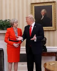 photo president donald trump talks with british prime minister