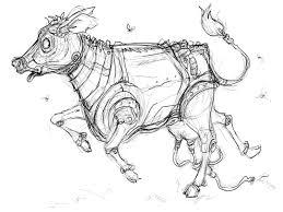 leanne franson u0027s art blog schoolism assignment 3 robot cow