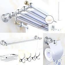 Silver Bathroom Accessories Sets Modern Bathroom Hardware Setsbuy Chrome Crystal Bathroom
