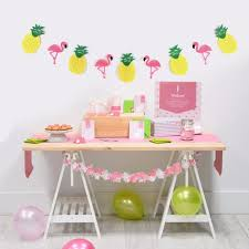 carnival party supplies zljq 3m flamingo pineapple garland banner wedding decoration baby