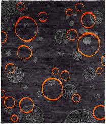 Area Rug Gray Impressive Orange And Blue Area Rug Designs For Grey Ordinary