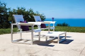 Coast Outdoor Furniture by Contemporary Armchair Aluminum With Footrest Garden West