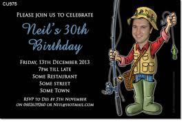 cu975 fishing themed birthday invitation mens birthday
