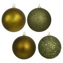 96ct olive assorted finishes shatterproof ornament