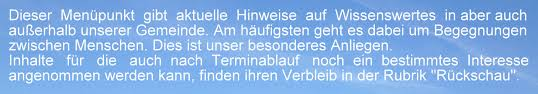 Aktuelles Kirchengemeinde Hochstadt Aktuelles