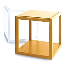 cube mirror side table cube side table wooden side table home decor bedside tables cube