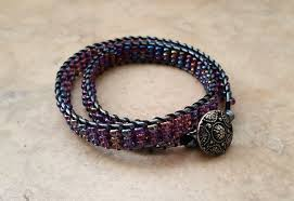 wrap bracelet tutorials images Lilac ladder stitch wrap bracelets png