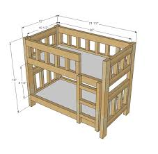 Free Plans For Full Size Loft Bed by Best 25 Doll Bunk Beds Ideas On Pinterest American Beds