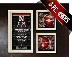 christmas gifts for 49ers fans 49ers art etsy