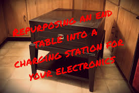 easy diy end table charging station clear the clutter u0026 get