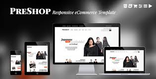 preshop responsive e commerce website template by jollythemes