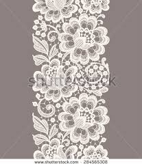 white lace white lace vertical seamless pattern beige stock vector 284565308