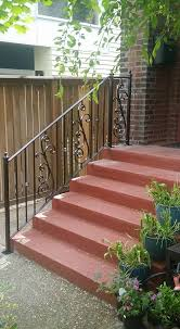 Porch Stair Handrail Railings Exterior Stairs Ace Iron Works