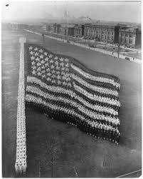Flag 48 Stars Formation Photograph Of The American Flag Photo Copyrighted 1917