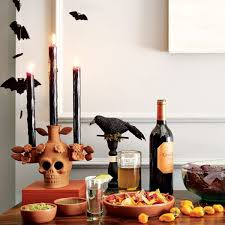 Halloween Home Decor Diy by Fascinating Bats With Crow And Skull Candle Holders Of Diy
