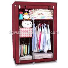 portable folding plastic wardrobe fabric closet foldable cloth