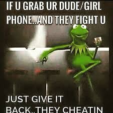 Meme Cheating Wife - kermit cheating phone meme