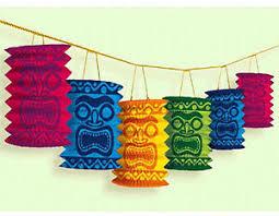 hawaiian tiki paper lantern garland luau decorations