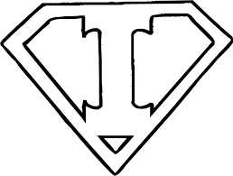 superman logo letter g get coloring pages