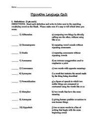 figurative language quiz worksheet free worksheets library