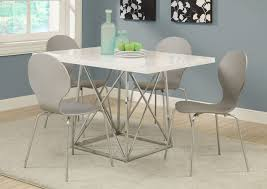 36 by 48 table 1046 i 1047 dining table 36 x 48 white glossy chrome metal