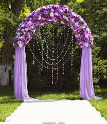 Wedding Arches Decorated With Tulle Purple Wedding Flowers Wedding Flower Arrangment Ideas That Use