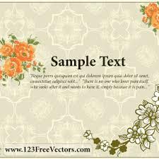 flower wedding invitation card vector freevectors net