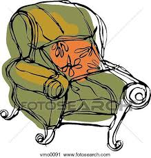 clipart of big comfy chair vmo0091 search clip art illustration
