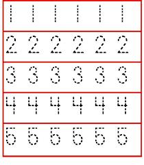 tracing numbers 1 5 worksheet for preschoolers and kindergarten