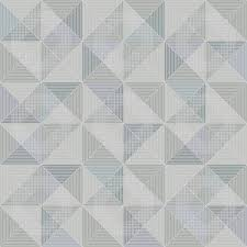 contemporary wallpaper geometric pattern white blue