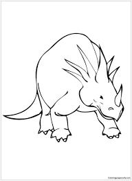 styracosaurus cretaceous period dinosaur coloring free
