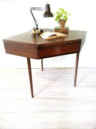 Etsy Vintage Home Decor by Broyhill Mid Century Modern Corner Desk Vintage Walnut Desk