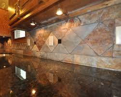 slate tile backsplash uba tuba granite kitchen tile design