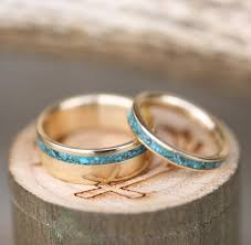 wedding rings his and hers matching sets vertigo matching set of 14k white gold turquoise rings