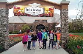 3rd grade goes to the tulip festival at thanksgiving point and the
